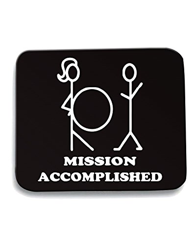 T-Shirtshock - Tappetino Mouse Pad TB0005 mission accomplished, Taglia taglia unica - T-shirt Mission Accomplished