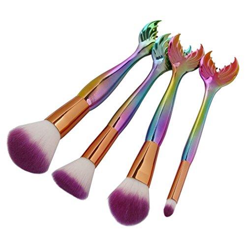 MuSheng(TM) 4PC sirène de base du fard à paupières de contour de l'oeil et la lèvre de brosse de maquillage de groupe