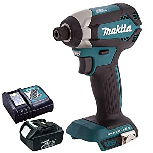 Makita DTD153Z 18V Cordless Brushless Impact Driver with 1 x 3.0Ah BL1830 Battery & DC18RC Charger