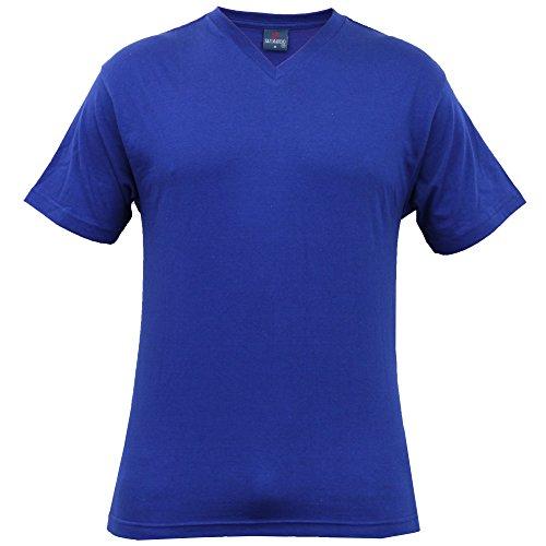 Herren Burnout T-shirt Von Tokyo Laundry Kurzärmelig Königsblau - EU20315