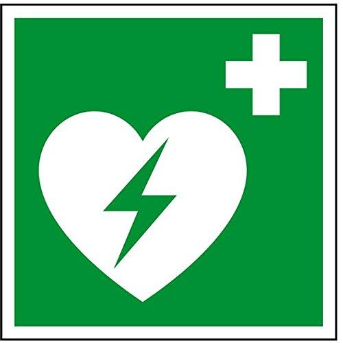 LEMAX® Rettungszeichen Automatisierter externer Defibrillator,ASR/ISO,Folie,200x200mm