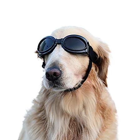 Vivi Bear Haustier-Sonnenbrille Falten Haustierschutzbrille UV-Schutzbrille Fashion Cool Pet Dog Brille mit…