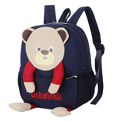 AMUSTER Enfant Sac à Dos pour Filles Garçons sac dessin animé ours modèle dessin animé sac à dos enfant sac (B)
