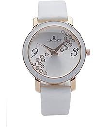 Escort Analog Silver Dial Women's Watch-5021 RGL