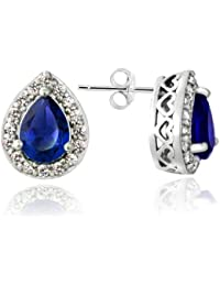 Sterling Silver 4/5ct TDW Champagne & White Diamond Teardrop Dangle Earrings 21.5 7drcFoOme