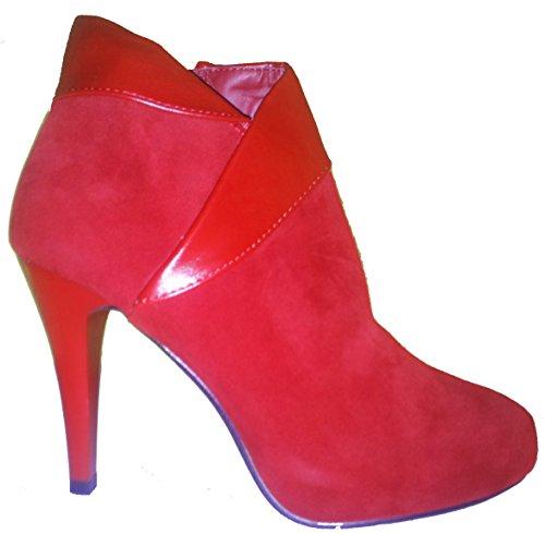 Talons hauts, Stiletto Bottes High Heels, chaussures femme, escarpins, modèle 1103400102008593, couleur rouge ou bleu. rouge