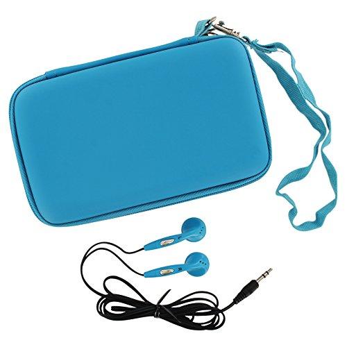 ZedLabz EVA-Hartschalen-Schutzhülle und Kopfhörer für Nintendo DS Lite / DSi / 3DS, Türkis