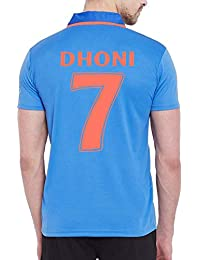 Roots4creation India Cricket Jersey-2019 with Dhoni 7 Printed at Back