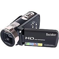 Videocamere Fotocamera, Besteker Portatile 1080P 24MP Digitale 16 Zoom Digitale Video Camcorder con LCD da 2,7