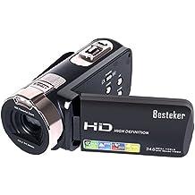 "Kamera Camcorder, Besteker HD 1080P Videokamera 24MP 16X Digital-Zoom mit 2,7"" LCD und 270 Grad-Drehbarem Bildschirm"