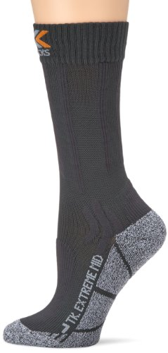 X-Socks Funktionssocken Trekking Extreme Light Mid Calf Trekkingsocke, Anthracite/Moulinè, 3 -