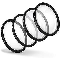 CELLONIC 4X Filtres de Gros Plan Macro Filtre Compatible avec Tamron SP 24-70mm F2.8 Di VC USD (Ø 82mm) Filtre Close-Up
