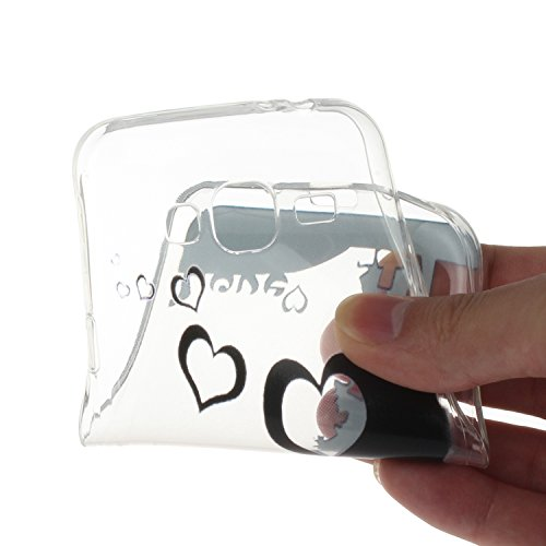 Toyym Custodia invisibile protettiva per Samsung Galaxy A3(2016) A310, ultra sottile, trasparente, in silicone flessibile, con motivo stampato, con tappo antipolvere a forma di fiore e 1pennino, plas Lover Tree