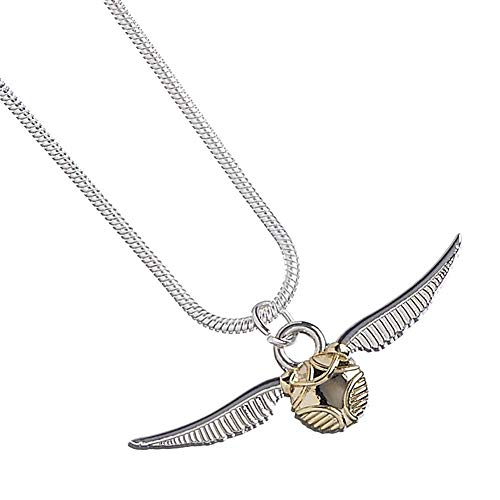 HARRY POTTER - Collar plateado con la snitch dorada 1