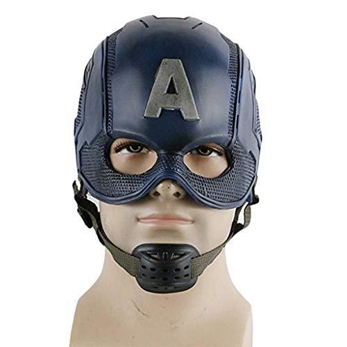 ica: Bürgerkrieg, Captain America Maskenhelm Marvel Avengers Captain America 3 Masken COS-Halloween-Helm-Requisiten,Captain America-59cm~62cm ()