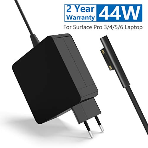 Ladegerät Surface Pro Laptop 44W Netzteil 15V 2.58A AC Netzteil Verlängerungskabel, Surface Laptop Ladegerät mit 1,8m Ladekabel Ersatz Ladegerät für Microsoft Surface Pro 3/4/5/6 -
