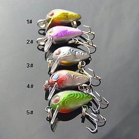 ZMW 5 pcs Manivela Colores Surtidos 3 g/1/8 Onza,30 mm/1-1/4
