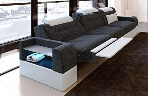 Sofa Dreams Dreisitzer Polstersofa Parma mit Relaxfunktion und LED Beleuchtung