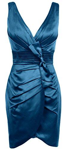 MACloth - Robe - Crayon - Sans Manche - Femme Bleu-vert
