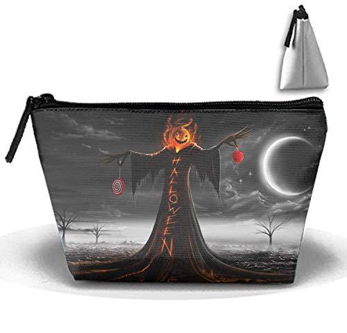 Halloween Scarecrows Travel Toiletry Bag/Shaving Grooming Kit/Makeup Bag Organizer
