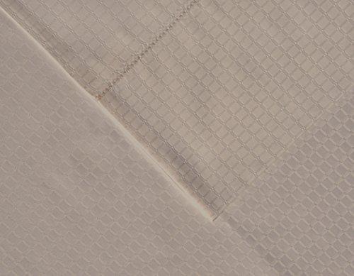 pointehaven 525Fadenzahl Pima-Baumwolle Kissenbezüge, Standard, Dobby, silber grau, Set von 2 -