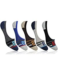 Supersox Men's Loafer Anti Slip No Show Terry Socks - Pack of 5