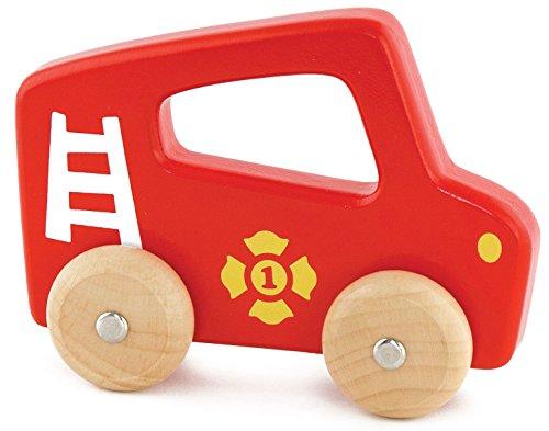 Viga Toys - 50330 - Véhicule Miniature - Modèle Simple - Voiture De Pompier À Poignée