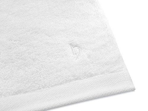 herzbach home Luxus Saunatuch Premium Qualität Weiß - 5