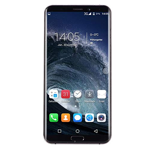 Tpulling Eight Cores6.1 inch Dual HDCamera Smartphone Android IPS Full Screen 8GB Touch Screen WiFi Bluetooth GPS 3G Call Mobile Phone (Schwarz) Mobile Call Recorder