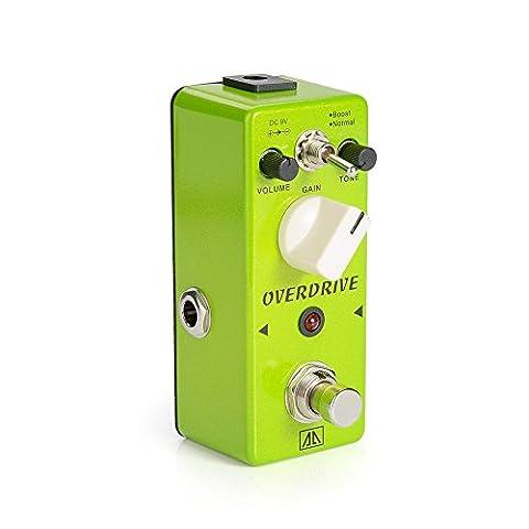 Aroma AGR-5 Green tragbare Mini-Vintage-Tube Overdrive Effekte-Pedal für Gitarre