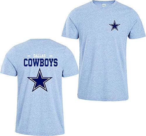 Männer 3D Shirt New Dallas Cowboys NFL Digitaldruck T-Shirt Muster Gedruckt T-Shirt(XXXL,Grau) (Cowboy-kleidung Dallas)
