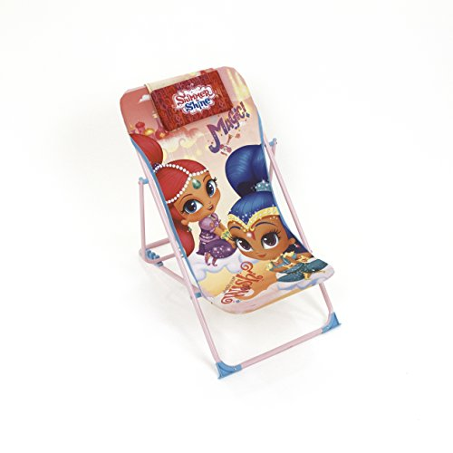 Arditex–Sillón de jardín/Playa Ajustable y Plegable para niños bajo Licencia Shimmer & Shine (Metal, Tela, 61x 43x 66cm)