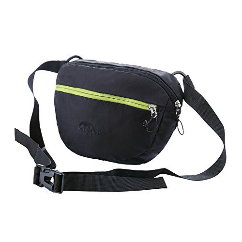 Naturehike Unisex Taille Pack Outdoor Multifunktions Tasche Sport Messenger Bag Black