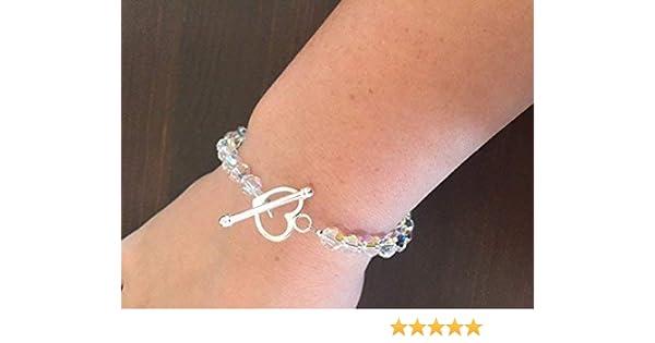04c32abff9 Swarovski Crystal Bracelet & Earring Set - Valentines Gift - Birthday - Bridal  Jewellery: Amazon.co.uk: Handmade