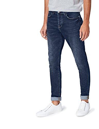 FIND Herren Cropped Skinny Mdt Jeans, Blau, W36/L32 (Herstellergröße: 36) (Pant Denim Cropped)