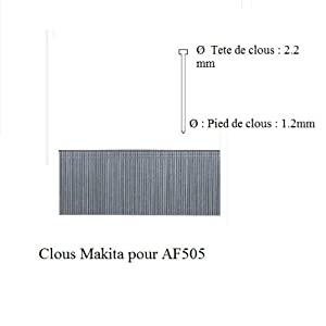 Makita 40 MM Nails for Pneumatic Nailer F-31931 AF505-5000 Pieces Round-Head Nails
