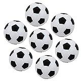 Ndier Mesa Soccer Foosballs Reemplazo Mini pl/ástico Blanco y Negro de bal/ón de f/útbol de