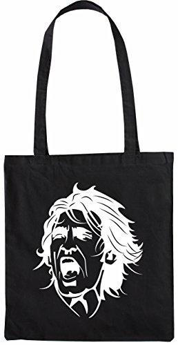 Mister Merchandise Tasche Andrea Pirlo Stofftasche , Farbe: Schwarz Schwarz