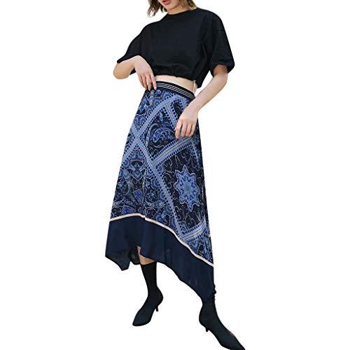 386f7dd48 Faldas Mujer Verano Retro Falda Impresa 2019 Falda de Moda Falda de Glamour  de Regreso a la Temporada Escolar Fiesta Elegante Fiesta Falda