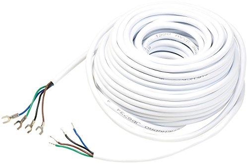 Somikon Zubehör zu Klingel mit Kamera Kabel: Kabel für Video-Türsprechanlage VSA-400, 4-adrig, 15 m (Türklingel mit Kamera Kabel)