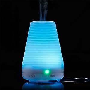 Homecube Umidificatore Ultrasuoni 100ml Diffusore con 7 Colori LED per il Salone di Bellezza, SPA, Yoga, Camera da Letto, Soggiorno, Sala