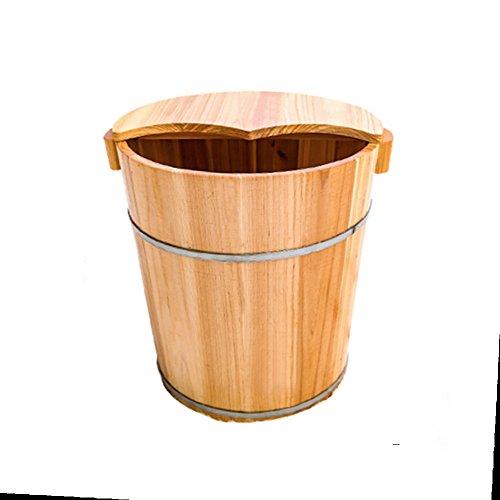 Wooden Foot Bathtub NAN Haushalt abgedeckt Massage Barrel Eisen Pine Barrel Holzfußbad Holzfuß Badewanne Holzfußbecken Holz Fußbecken, 40cm * 37cm