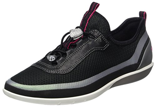 Ecco Ecco Sense Light, Sneakers basses femme Schwarz (50580BLACK/BLACK-CONCRETE/BLACK)