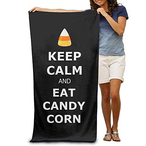 AORSTAR Picknickdecke,Stranddecke Strandtuch,Keep Calm and Eat Candy Corn Printting Beach Bath Towel Extra Large Microfiber Towel for Swim Beach Chair Cover 31.5