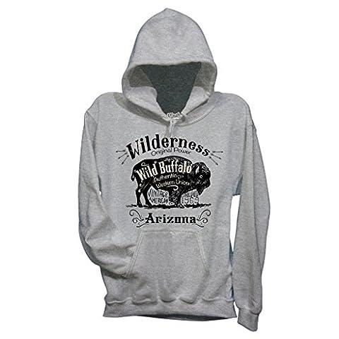 Sweatshirt Wild Arizona Büffel - MUSH by Mush Dress Your Style - Damen-M-Grau