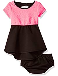 Kensie Baby Girls' Floral Quilted Knit and Ponte Dress