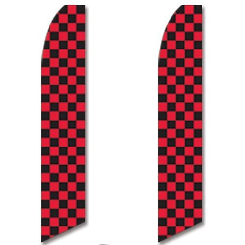 ooper Flags Red Black Race Check Checkered Flag by Super Ad Flag (Checkered Race Flags)