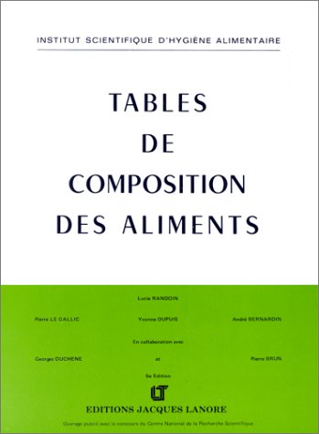 Tables de composition des aliments par Lucie Randoin