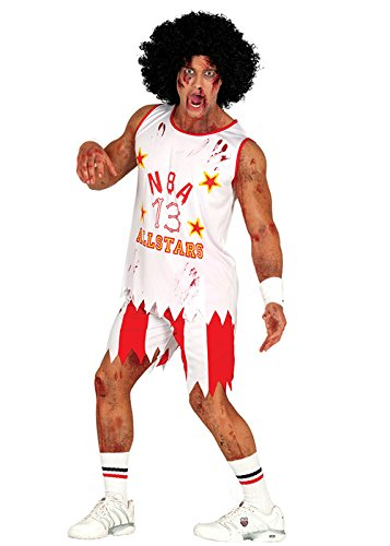 Halloween Zombie Basketball Spieler Kostüm Medium (37-40