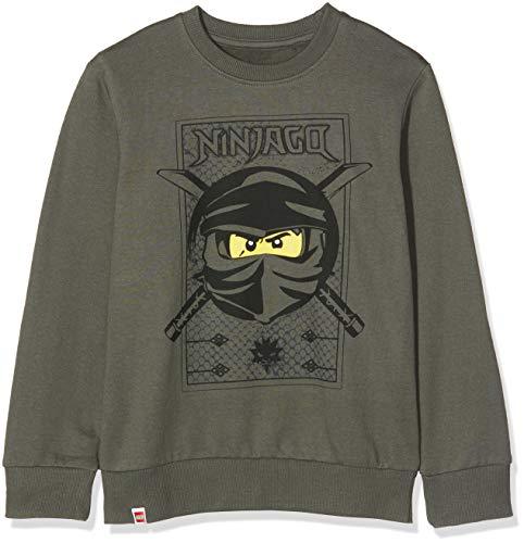 LEGO Jungen CM-50420-SWEATSHIRT Sweatshirt, Grün (Dark Green 883), (Herstellergröße: 128)